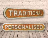 Personalised Traditional Vintage  Wooden Street Sign Rust Finish